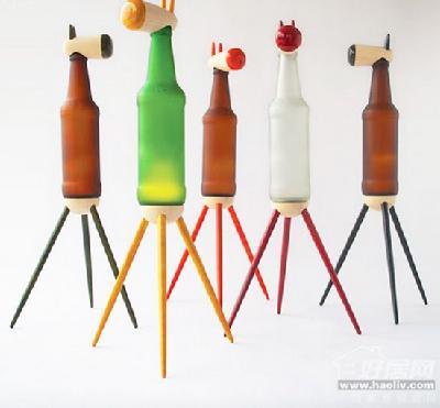 废弃瓶子手工制作小动物步骤
