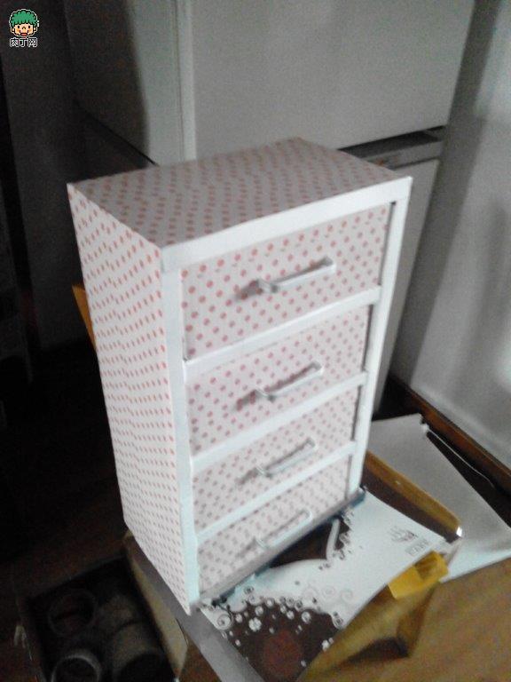 舊物改造:diy牛奶箱制作收納柜制作方法