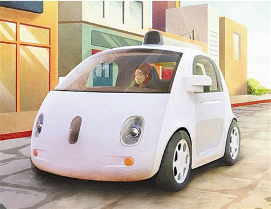 谷歌无人驾驶汽车来了 萌萌哒圣诞礼物高清图片
