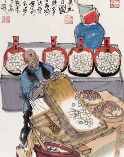 看看画家笔下的元宵节是如何过的-中国搜索书画